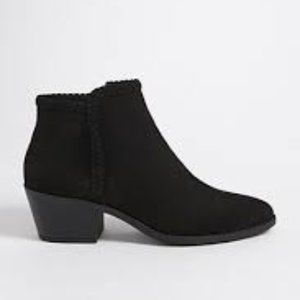 NWT Forever 21 Black Suede Pull On Ankle Boots